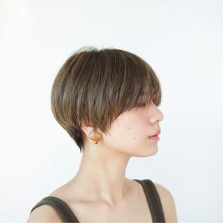 外国人風 ハイライト ショート 似合わせ ヘアスタイルや髪型の写真・画像