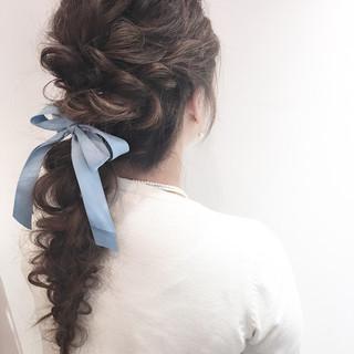 ヘアアレンジ デート 結婚式 簡単ヘアアレンジ ヘアスタイルや髪型の写真・画像