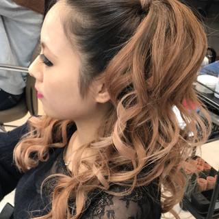 成人式 ヘアアレンジ 上品 セミロング ヘアスタイルや髪型の写真・画像