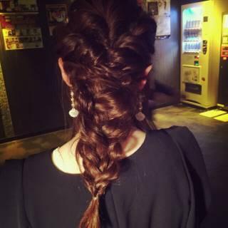 編み込み コンサバ フェミニン ゆるふわ ヘアスタイルや髪型の写真・画像