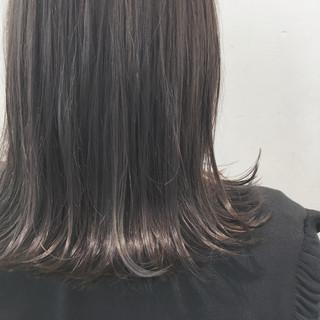 ハイライト 外ハネ ミディアム ナチュラル ヘアスタイルや髪型の写真・画像