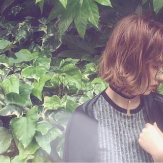 ボブ グラデーションカラー パーマ ストリート ヘアスタイルや髪型の写真・画像