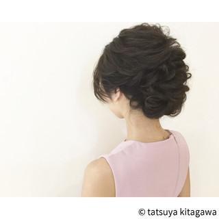 ヘアアレンジ 結婚式 ゆるふわ セミロング ヘアスタイルや髪型の写真・画像