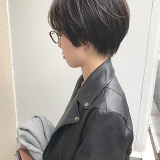 モード 暗髪 ショートボブ ショート ヘアスタイルや髪型の写真・画像
