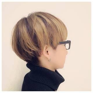モード 外国人風 ショート ストレート ヘアスタイルや髪型の写真・画像