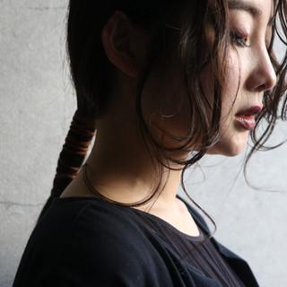 簡単ヘアアレンジ ロング セルフアレンジ エレガント ヘアスタイルや髪型の写真・画像