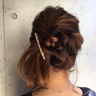 簡単ヘアアレンジ セミロング 成人式 ヘアアレンジ ヘアスタイルや髪型の写真・画像