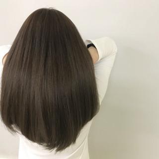 デート エフォートレス ナチュラル セミロング ヘアスタイルや髪型の写真・画像