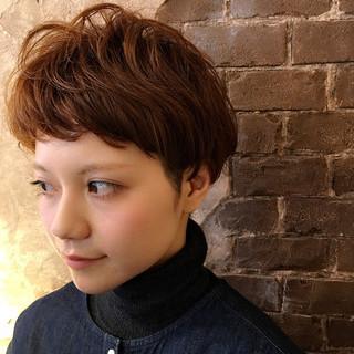 かわいい ナチュラル ショート ベリーショート ヘアスタイルや髪型の写真・画像
