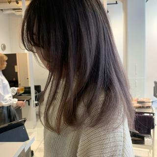 外国人風 透明感 エレガント ストレート ヘアスタイルや髪型の写真・画像