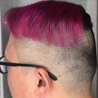 ストリート ショート ピンク アウトドア ヘアスタイルや髪型の写真・画像