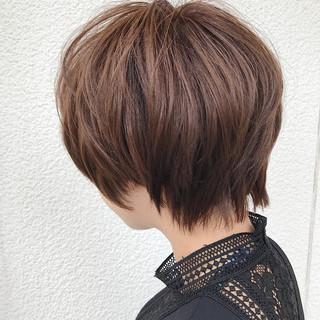 ショートバング 似合わせ ナチュラル マッシュ ヘアスタイルや髪型の写真・画像