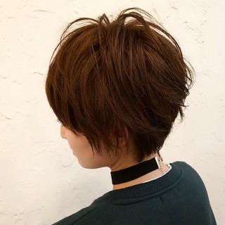 イルミナカラー モテ髪 ボーイッシュ ストリート ヘアスタイルや髪型の写真・画像
