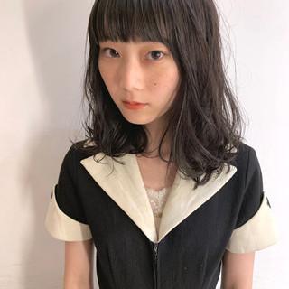 ヘアアレンジ フェミニン パーマ 黒髪 ヘアスタイルや髪型の写真・画像