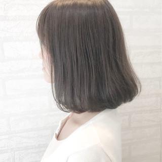 ロブ 透明感 ナチュラル リラックス ヘアスタイルや髪型の写真・画像