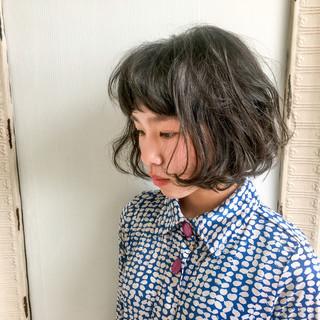 ボブ 外国人風 ショートボブ パーマ ヘアスタイルや髪型の写真・画像