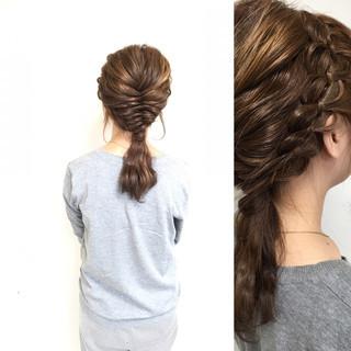 ハーフアップ ゆるふわ ショート セミロング ヘアスタイルや髪型の写真・画像
