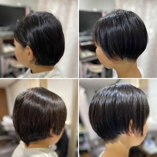 ツーブロック モード ミニボブ ベリーショート ヘアスタイルや髪型の写真・画像