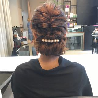 ヘアアレンジ ロング ギブソンタック フェミニン ヘアスタイルや髪型の写真・画像