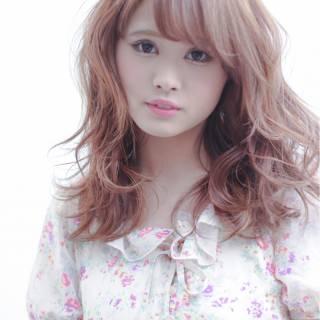 モテ髪 春 フェミニン ガーリー ヘアスタイルや髪型の写真・画像