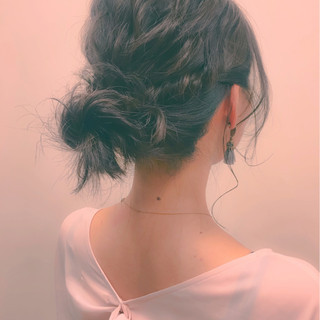 ハーフアップ ショート ヘアアレンジ セミロング ヘアスタイルや髪型の写真・画像