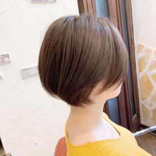 ショート ショートヘア ナチュラル ハンサムショート ヘアスタイルや髪型の写真・画像