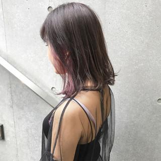 ブリーチ ミディアム ラベンダー ガーリー ヘアスタイルや髪型の写真・画像