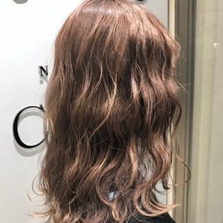 外国人風カラー ミディアム オルチャン ゆるふわ ヘアスタイルや髪型の写真・画像