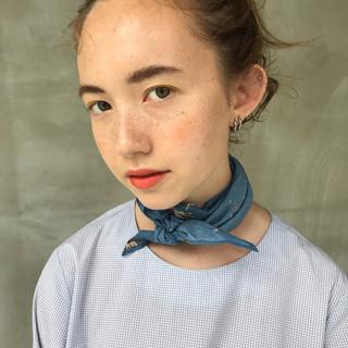 簡単ヘアアレンジ モード 女子会 セミロング ヘアスタイルや髪型の写真・画像