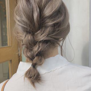 アウトドア 簡単ヘアアレンジ ヘアアレンジ ミディアム ヘアスタイルや髪型の写真・画像