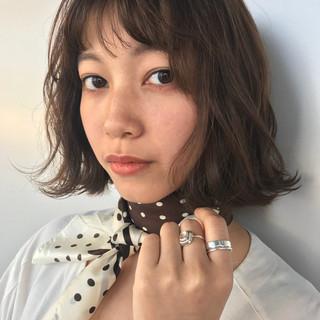 アンニュイ ウェーブ バレンタイン ボブ ヘアスタイルや髪型の写真・画像