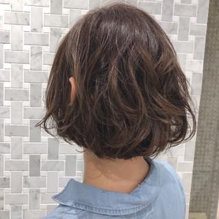 大人かわいい ミニボブ ボブ 透明感カラー ヘアスタイルや髪型の写真・画像