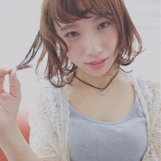 夏 アッシュ 外国人風 外ハネ ヘアスタイルや髪型の写真・画像