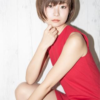 女子力 ショート 小顔 こなれ感 ヘアスタイルや髪型の写真・画像