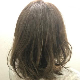 ナチュラル ゆるふわ フェミニン ミディアム ヘアスタイルや髪型の写真・画像