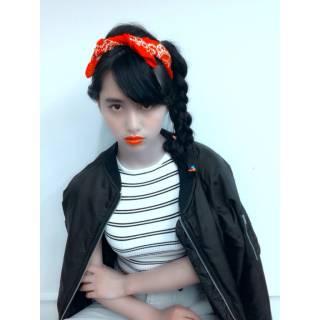 秋 ヘアアレンジ 三つ編み ガーリー ヘアスタイルや髪型の写真・画像