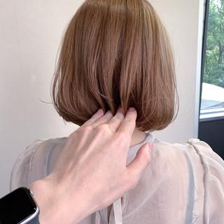 ボブ トリートメント ナチュラル 透明感カラー ヘアスタイルや髪型の写真・画像