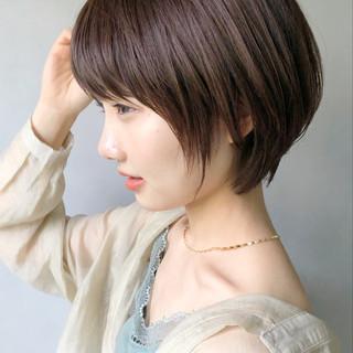 ショート マッシュショート デート デジタルパーマ ヘアスタイルや髪型の写真・画像