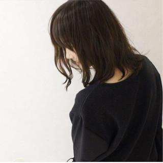 アッシュ パーマ 黒髪 ボブ ヘアスタイルや髪型の写真・画像