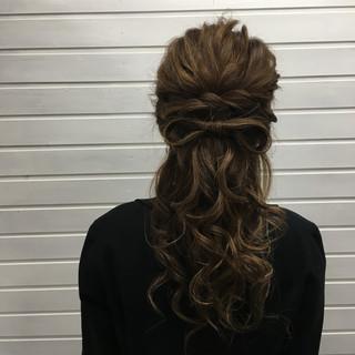 上品 エレガント ロング ヘアアレンジ ヘアスタイルや髪型の写真・画像