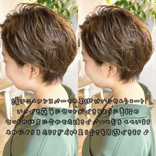 アッシュ デート ハンサムショート ショート ヘアスタイルや髪型の写真・画像