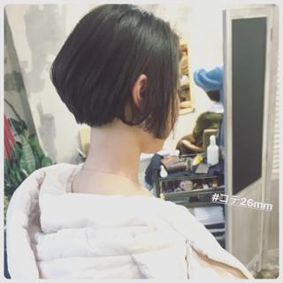 フェミニン オルチャン ボブ グレージュ ヘアスタイルや髪型の写真・画像