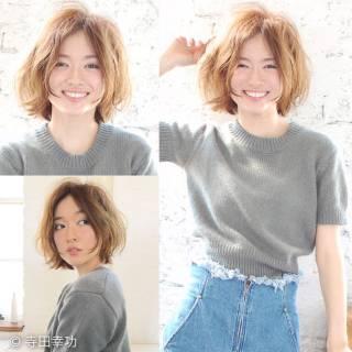 大人かわいい ストリート ショート 丸顔 ヘアスタイルや髪型の写真・画像