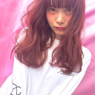 ガーリー シースルーバング 愛され 前髪あり ヘアスタイルや髪型の写真・画像
