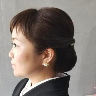 着物 まとめ髪 エレガント 結婚式 ヘアスタイルや髪型の写真・画像