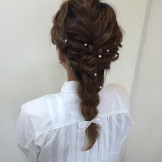 ショート ゆるふわ セミロング 結婚式 ヘアスタイルや髪型の写真・画像