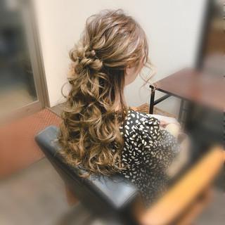 ロング ヘアアレンジ ヘアセット 結婚式 ヘアスタイルや髪型の写真・画像