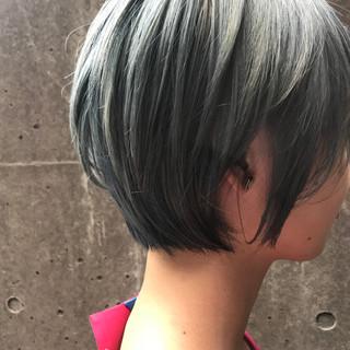 モード ショートボブ ショート 透明感 ヘアスタイルや髪型の写真・画像
