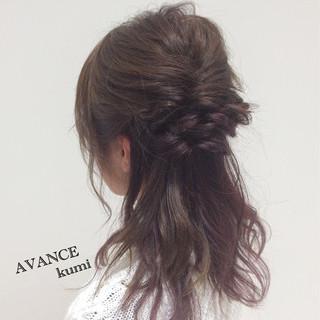 セミロング ヘアアレンジ イルミナカラー 大人女子 ヘアスタイルや髪型の写真・画像