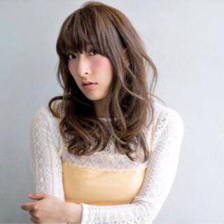 大人女子 セミロング 大人かわいい ナチュラル ヘアスタイルや髪型の写真・画像